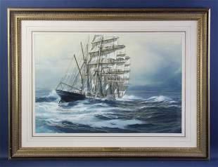 Carl Evers, Moshulu in Heavy Seas, Pastel