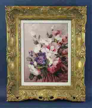 Hahn Vidal, Bouquet, Oil on Panel
