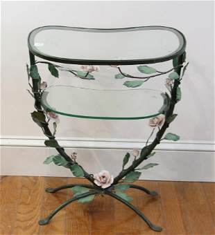 Italian Painted Floral Occasional Table