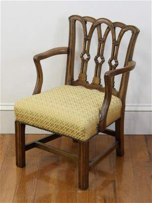 Chippendale Style Diminutive Armchair