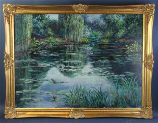 Evelyn Wallace, Memories of Giverny, Oil on Canvas