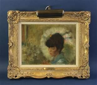 Samuel Oppenheim, Oriental Mood, Oil on Canvas