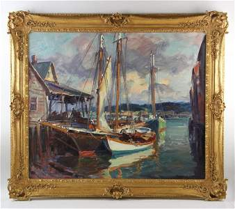 Emile Gruppe Oil on Canvas, Signed