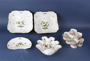Herend Porcelain and Wedgwood Cups