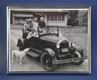 Averell Harriman Model A Photo to Henry Ford II