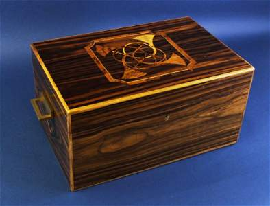 Hermes Humidor, Top Inlaid with Trumpet Pattern