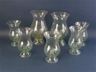 Bubble Glass Candle Vases