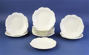 Creamware Dishes Leaf Pattern
