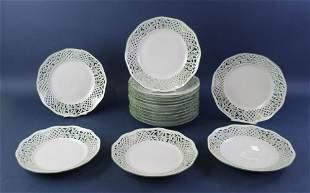 Pierced Porcelain Plates Schumann Germany