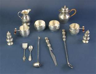 Antique American Sterling and Christofle Silverplate