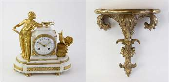 French Mantel Clock on Shelf 19thC