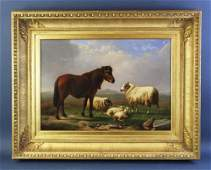 R Jones, Highland Landscape Scene, Oil on Canvas