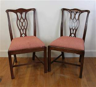 Pair of Chippendale Style Mahogany Chairs