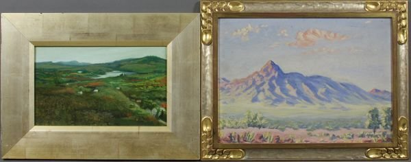 2008: (2) 20th C. Paintings, 1 Arizona, in Gilt Frames