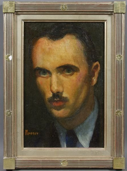 2012: Signed Nestor, Portrait of Young Man, o/b