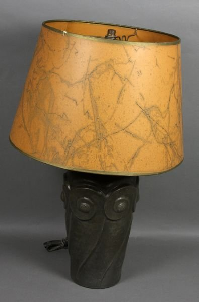 2021: 1920s/30s Hand-hammered Lead Lamp