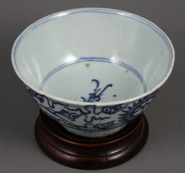 3012: 18/19th Century Chinese Blue and White Bowl