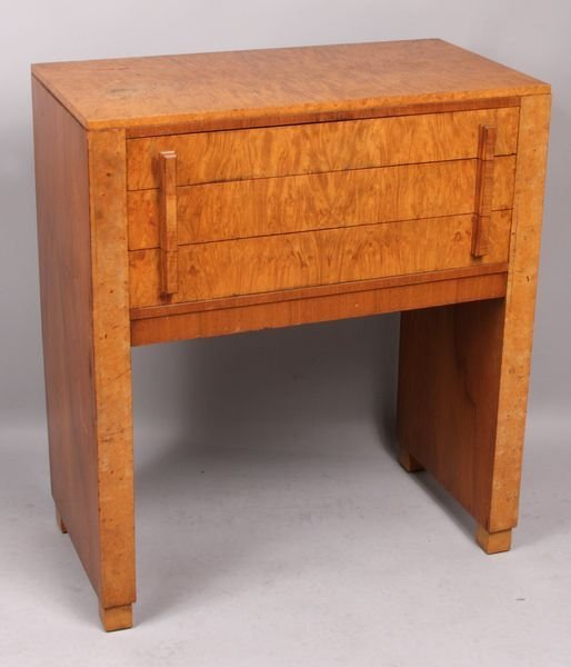 3017: Art Deco Burlwood Three-Drawer Server