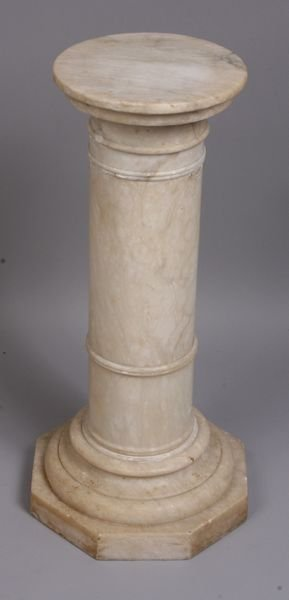 "3019: Marble Pedestal, 21""h. x 9 3/4""dia. at top"