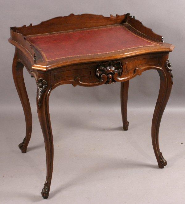 2: CIRCA 1850 LADY'S WRITING TABLE JOSEPH MEEKS, NY