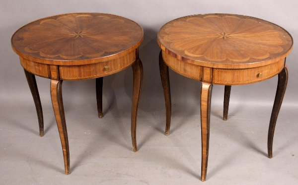 5: PAIR OF 20TH CENTURY INLAID TABLES