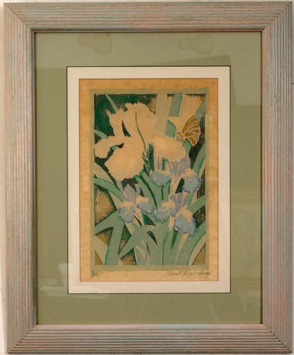 SIGNED CARROLL THAYER BERRY WOODBLOCK