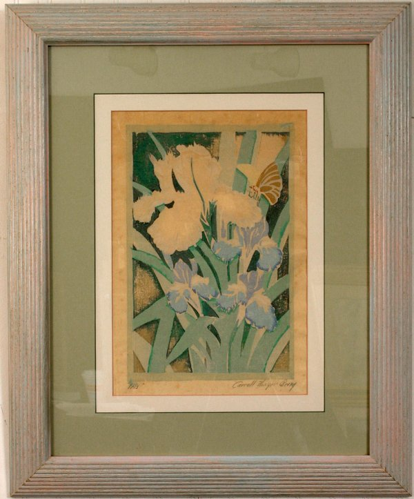 17: SIGNED CARROLL THAYER BERRY WOODBLOCK