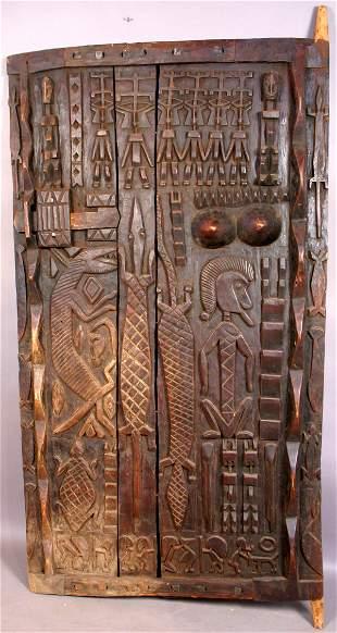 19TH/20TH CENTURY AFRICAN WOODEN DOGON DOOR