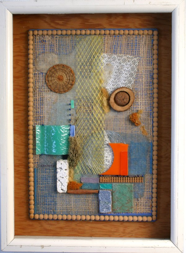 22: SIGNED DANE CHANASE COLLAGE ABSTRACT HARP MUSIC
