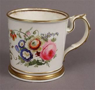 ENGLISH PORCELAIN MUG DATED 1828