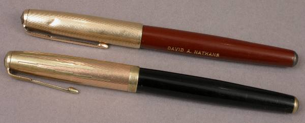 TWO PARKER BROTHERS FOUNTAIN PENS