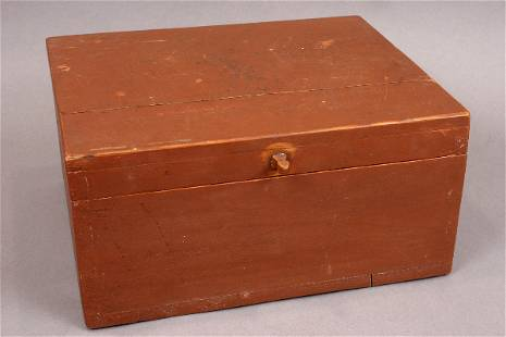 19TH CENTURY COUNTRY DOVETAILED SUGAR BOX
