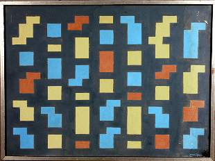 SIGNED CARL PETERSON ABSTRACT