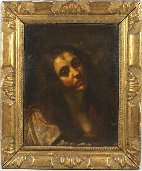 4126: 17th C., Italian Bolognese School, Portrait of a