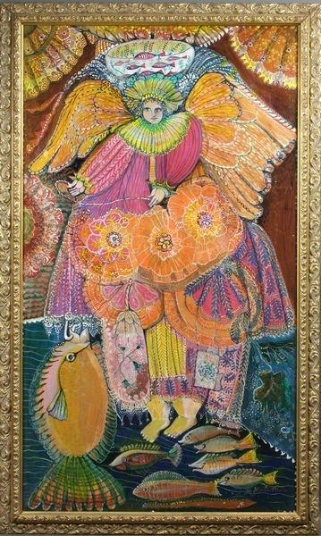 4308: Marta Pérez, 'Angel-San Rafael', 1984, O/Panel