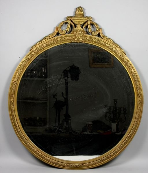 """4008: 1920s French style mirror, 32"""" x 26 1/2""""."""