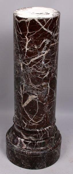 "4011: Antique marble pedestal, 36 1/2"" h. x 14"" w."