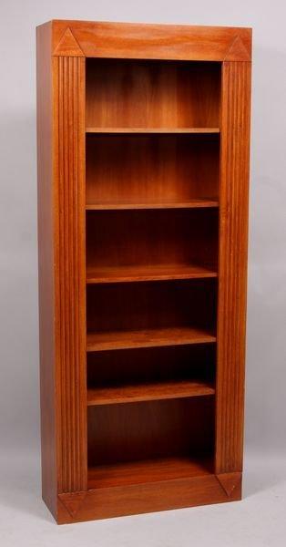 4018: Late 20th C. Deco wooden bookcase