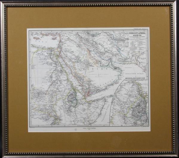 4012: Map of Nordost-Afrika und Arabien, dated 1879.