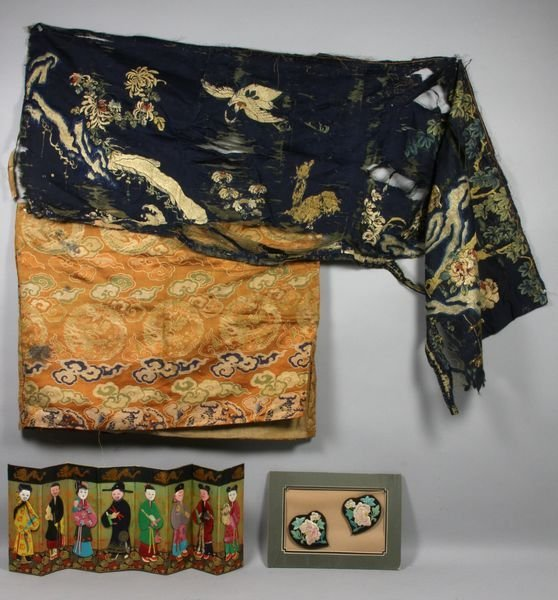 4022: Group of old Chinese fabrics