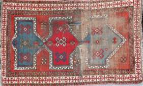 4028 Group of three 3 antique rugs