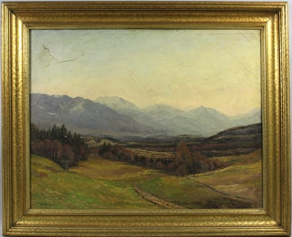 4009: Signed Gulius Koch, 19th C. German, Fall Landscap