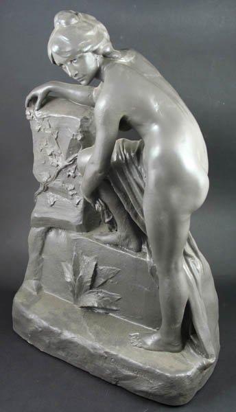 4014: 19/20th C. French Terra Cotta Sculpture, Perron