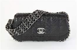 Rare Chanel Black Alligator Purse