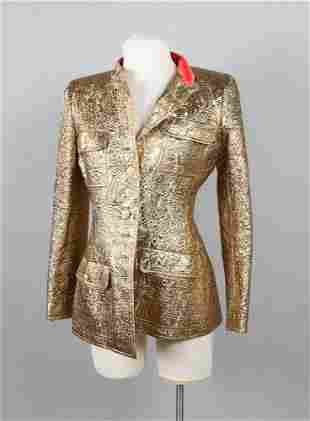 Chanel Gold Lame Evening Jacket