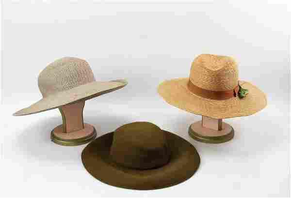 Peter Bettley Velvet and Straw Hat