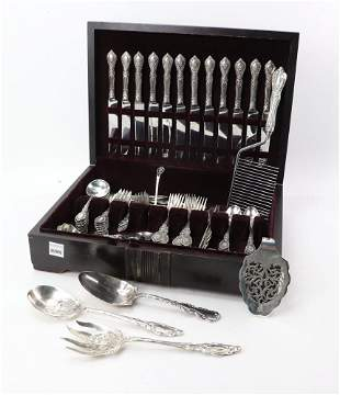 Reed and Barton Sterling Flatware Service for 12