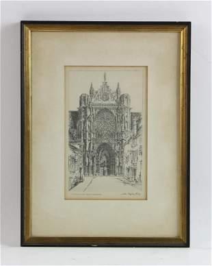 John Taylor Arms Sens Cathedral Etching