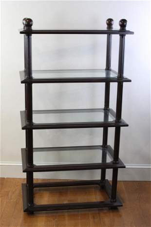 Mahogany Shelf with Glass Tops