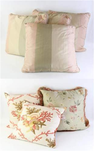Group of Assorted Pillows